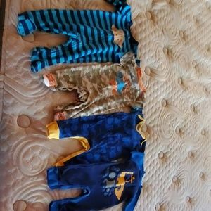 Lot of 4 one piece baby outfits